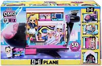 LOL Surprise OMG Remix 4-in-1 Plane Playset Transforms with 50 Surprises