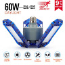 60W LED Garage Lights 6000LM E26 Daylight For Workshop Warehouse Ceiling Light