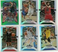 6) 2019-20 Panini Prizm Silver Green LOT Prizms Card SP Parallel NBA Basketball