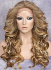 HEAT SAFE Lace Front WIG Blonde orange brown mx Hairpiece LAM 2216 NWT Hair