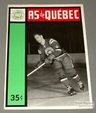 1963-64 AHL Quebec Aces Program Terry Gray Cover