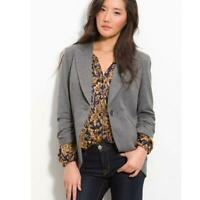 Gibson Nordstrom Blazer XS Grey Knit Riding Jacket Womens Size Extra Small NEW