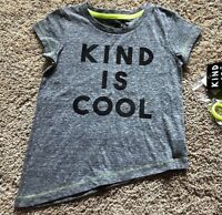 NWT Girls Gray Short Sleeve Kind is Cool Top T-Shirt Small