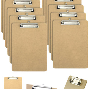 Officemate Letter Size Wood Clipboards, Low Profile Clip, 12 Pack Clipboard, ...