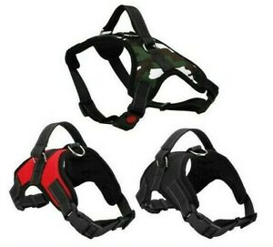 Dog Harness Padded Vest Comfy Grab Handle Reflective Safety Lock No-Pull Style