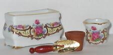 Blumentopf Set aus Porzellan mit Dresdner Rose Dekor Reutter unbespielt 1cm-3cm