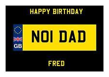 Number Plate Design Birthday A5 Card Husband Wife Son Boyfriend Daughter Dad 21