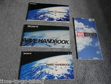 FIVE SONY WAVE HANBOOK 1980 1981 1984 1985 AND ? YEAR  *SEE BOTH PICTURES !!