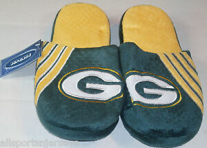 NFL Green Bay Packers Stripe Logo Slide Slippers Size Men Extra Large by FOCO