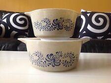 Pyrex Corelle HOMESTEAD Mixing Bowls/Cassarole Dish Set Of 2- Excellent