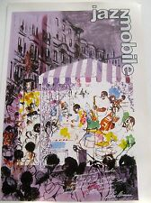 LeRoy Neiman Poster to Advertise the Opening of the New York Jazz Museum 16x11