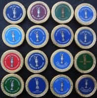 Set of 16 X Collectable Metal Golf Ball Markers - British Opens