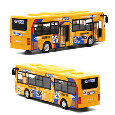 Kids Double-floor Alloy Tourist Bus Toy With Light Music Car Toy M Decoration