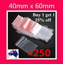 250  40 x60mm 4x6cm Small Zip Lock Plastic Bags Resealable Ziplock Bags Zippers