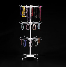 Rotating Ring Earring Holder Jewelry Stand Display Organizer Necklace Show Rack