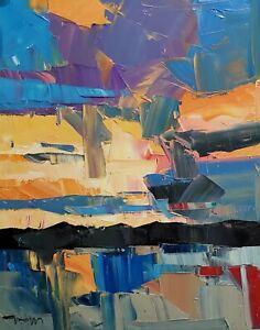 JOSE TRUJILLO Oil Painting IMPRESSIONISM ORIGINAL LANDSCAPE CONTEMPORARY ART
