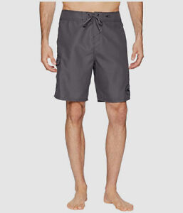 "$50 O'Neil Mens Gray Hyperdry Swim Santa Cruz Solid 2.0 19"" Board Short Size 34"