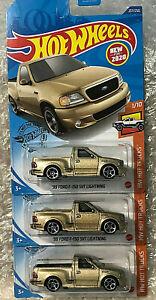 NEW MODEL 2020 Hot Wheels LOT OF (3) '99 Ford F-150 SVT LIGHTNING !!! rlc FTE