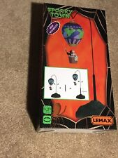 Spooky Town Lemax Grim Hot Air Balloon Animated Village Halloween Reaper
