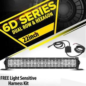 Straight 21.5inch Dual Row LED Work Light Bar for Ford Ranger Focus F150/250/350