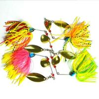 4pcs Spinner Spoon Metal Bait Fishing Lure Sequins Crankbait Baits Bass Tackle