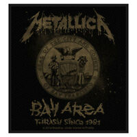 Metallica Bay Area Thrash Tissé Patch à Coudre Officiel Bande March Tout Neuf