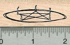 Summoning Circle Rubber Stamp, Pentagram or Pentacle E34908 WM