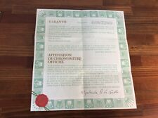Rolex Blank Certificate Guarantee Paper 570.02.200 + Free Shipping