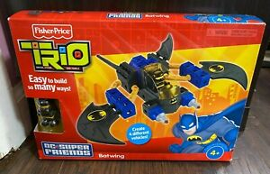 Fisher Price Trio Blocks Bricks Dc Super Friends Batman Batwing 2010 Toy 32pc