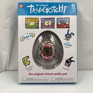 Bandai The Original Tamagotchi Virtual Pet, Gen 2,White W/Multi Color Spots,2018