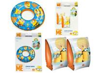 Summer Inflatables Holidays Children Swimming Rings Arm Bands Minion Armbands