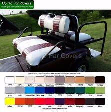 E-Z-Go TXT Golf Cart Custom Front & Rear Flip Seat Cover Combo Set - STAPLE ON