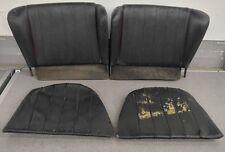 NICE 4 PIECE SET OF USED ORIGINAL GENUINE PORSCHE 356C 356SC REAR SEATS BLACK 15