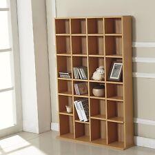 Storage Shelf CD DVD Media Shelves Rack Unit Stand Video Wood Bookcase Furniture