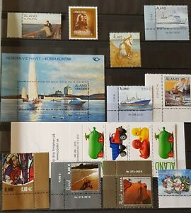 Aland  Finland 2010-2011 cpl collection including booklets S/S MNH Three photos