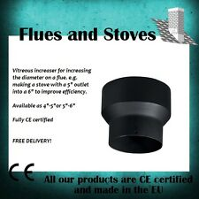 """5 inch to 4 inch"""" reducer for vitreous flue pipe wood burning stoves"""