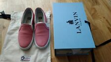 Lanvin en cuir rose Nora Slip On Sneakers
