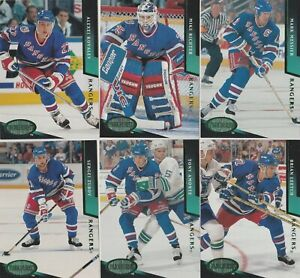 1993/94 New York Rangers Parkhurst Emerald Ice Parallel Team Set Of 20 Cards