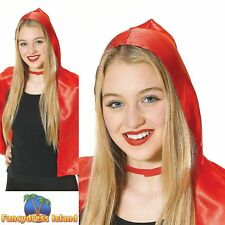 FAIRYTALE LITTLE RED RIDING HOOD CAPE ladies womens fancy dress costume
