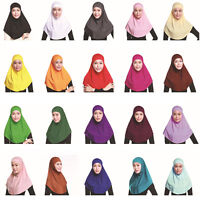 New 2 Piece Muslim Amira Hijab Cotton Shayla Underscarf Hat Caps