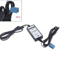 USB AUX-In Adapter Car MP3 Player Interface sockets 8Pin 3.5mm for Audi A8W5