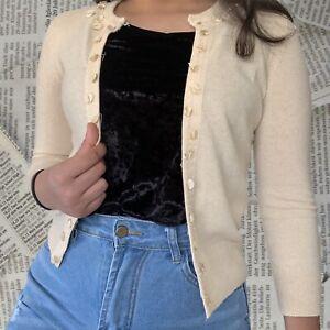 Details about  /NEW J Crew Caryn Merino Wool Bld Cardigan Button Down Sweater Camel Womens XXL