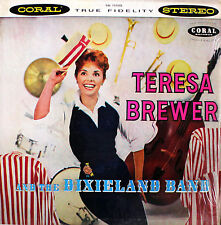 """Teresa Brewer The Dixieland Band 1958 US flawless Coral record 12"""" 33rpm LP (m)"""