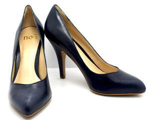 Noe Womens High Heel Pumps Court Shoes Leather Dark Blue (Royal) UK 6 / EU 39