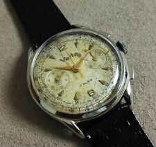Vetta Vintage chronograph oversize Valjoux 23 metal case mm 38 just serviced