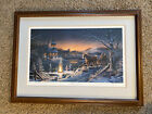 """Terry Redlin """"Sharing the Evening"""" signed numbered framed lithograph 34x24 1993"""