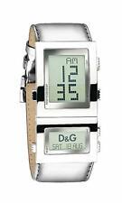 D&G Dolce & Gabbana DW0359 Highlander Armbanduhr, Digitaluhr, Leder, Silber, Neu