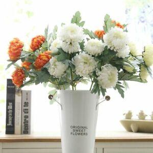 Wedding Artificial Flower Marigolds Heads Autumn Large Flowers Silk Multi Colors