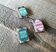 Miniature Book Charms Set Tiny Book Charms Library Charms Librarian Charms 3pcs*
