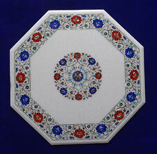 """24"""" Coffee Table Top Marble Pietra dura Floral Handmade Home Decor for Gifts"""